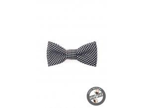 Motýlek MINI 531-5087 Černo-bílá (Barva Černo-bílá, Velikost 7 cm, Materiál 100% bavlna)