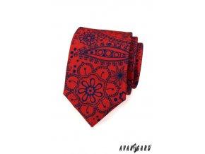 Kravata AVANTGARD LUX 561-1914 Červená (Barva Červená, Velikost šířka 7 cm, Materiál 100% polyester)