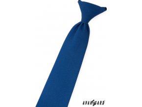 Modrá jednobarevná chlapecká kravata_