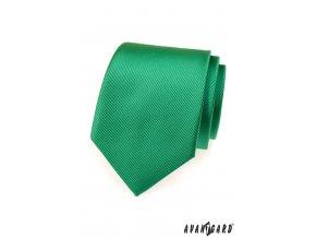 Zářivě zelená kravata s vyrytými proužky_