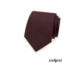 Bordó kravata s tmavými proužky