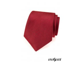 Červená kravata se síťovaným vzorem