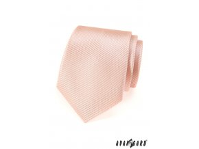 Lososová proužkovaná kravata