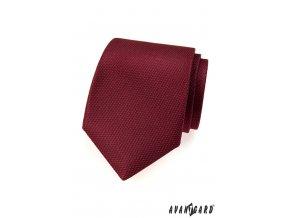 Bordó kravata s jemným vzorkem stejné barvy_
