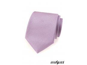 Lila vzorkovaná kravata_