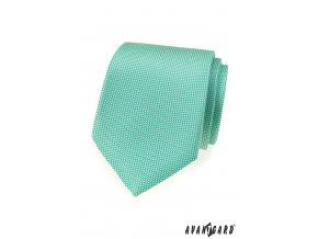 Zářivě mátová luxusní vzorkovaná kravata_