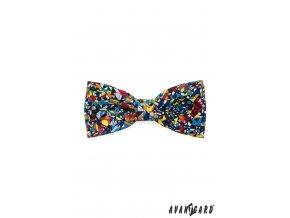 Barevný mozaikový motýlek + kapesníček