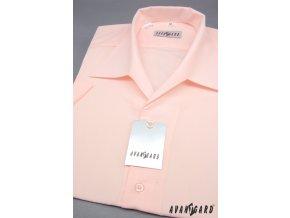 Pánská košile s rozhalenkou, kr.rukáv 456-9 V9-sv.růžová (Barva V9-sv.růžová, Velikost 42/182, Materiál 55% bavlna a 45% polyester)