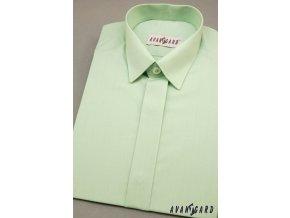 Chlapecká košile KLASIK s krytou légou 458-8 V8-zelená (Barva V8-zelená, Velikost 128, Materiál 55% bavlna a 45% polyester)