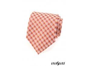 Kravata AVANTGARD LUX 561-80305 Oranžová (Barva Oranžová, Velikost šířka 9 cm, Materiál 100% polyester)