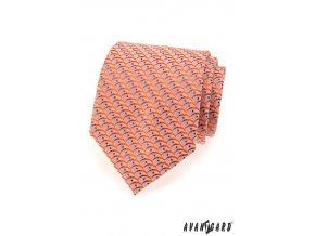 Kravata AVANTGARD LUX 561-80306 Oranžová (Barva Oranžová, Velikost šířka 9 cm, Materiál 100% polyester)
