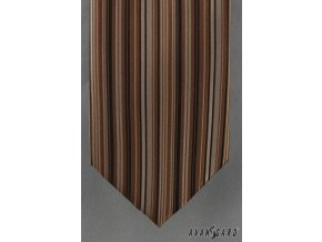 Kravata AVANTGARD LUX 561-090115 Hnědá (Barva Hnědá, Velikost šířka 9 cm, Materiál 100% polyester)