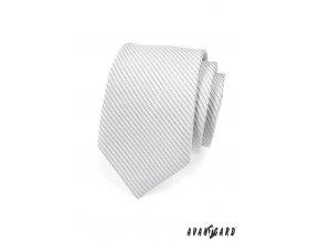 Kravata AVANTGARD LUX 561-44 44 - stříbrná (Barva 44 - stříbrná, Velikost šířka 7 cm, Materiál 100% polyester)